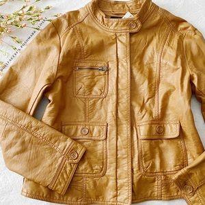 H&M Faux Leather Motto Jacket (read descri…